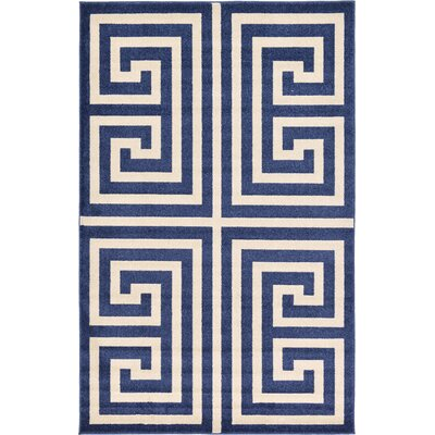 Ellery Blue Area Rug Rug Size: Rectangle 5 x 8