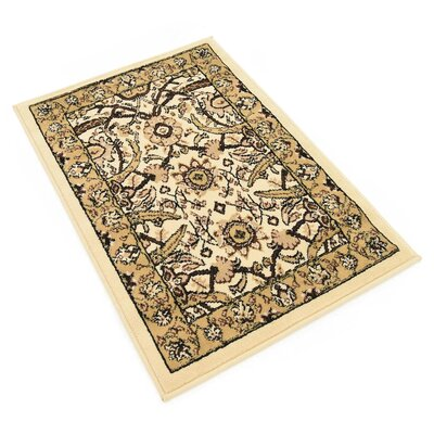 Britannia Ivory Area Rug Rug Size: Rectangle 22 x 3