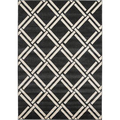 Storyvale Black Area Rug Rug Size: Rectangle 7 x 10