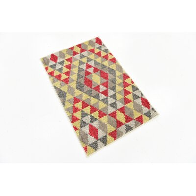 Auyeung Red/Gray Area Rug Rug Size: Runner 27 x 10