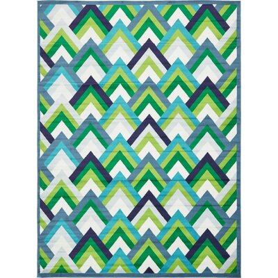 Sidney Blue Area Rug Rug Size: Rectangle 5 x 8