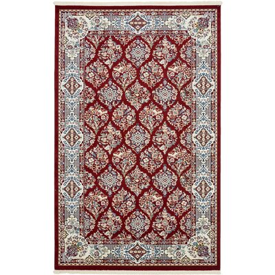 Jackson Burgundy Area Rug Rug Size: Rectangle 5 x 8