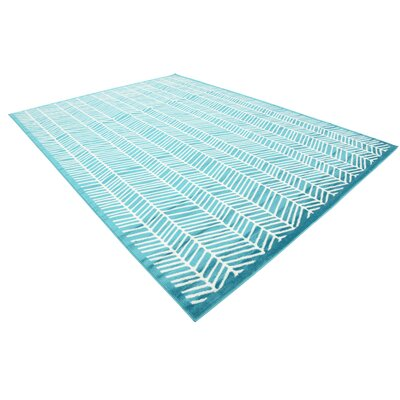 Maryrose Turquoise Area Rug Rug Size: Rectangle 9 x 12