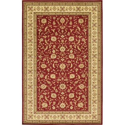 Fairmount Red/Cream Area Rug Rug Size: Rectangle 106 x 165