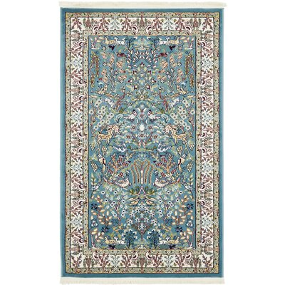Jackson Blue Area Rug Rug Size: Rectangle 3' x 5'
