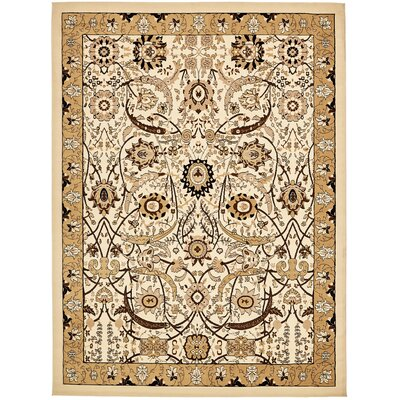Antoinette Ivory Area Rug Rug Size: 10 x 13