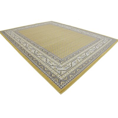 Toni Yellow Area Rug Rug Size: Rectangle 10 x 13