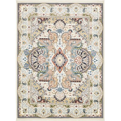 Amrane Ivory/Tan Area Rug Rug Size: Rectangle 10 x 13