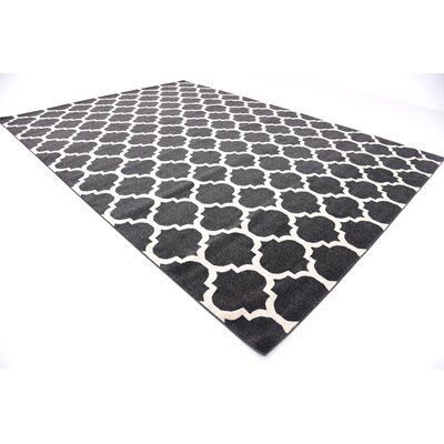 Emjay Black Area Rug Rug Size: Rectangle 10 x 14