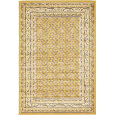 Toni Yellow Area Rug Rug Size: Rectangle 4 x 6