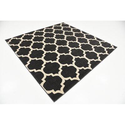 Emjay Black Area Rug Rug Size: Square 6'