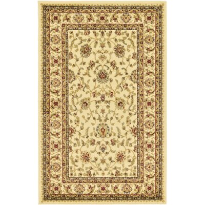 Niles Cream/Brown Area Rug Rug Size: 33 x 53