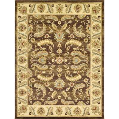 Niles Oriental Brown Area Rug Rug Size: Rectangle 9 x 12