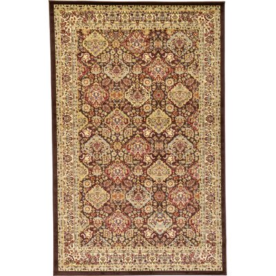 Fairmount Brown Area Rug Rug Size: 5 x 8