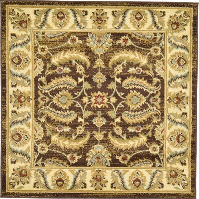 Fairmount Oriental Brown Area Rug Rug Size: Square 4