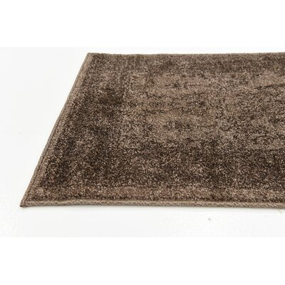 Attleborough Brown Area Rug Rug Size: 33 x 53
