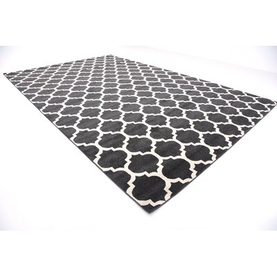 Emjay Black Area Rug Rug Size: Rectangle 106 x 165