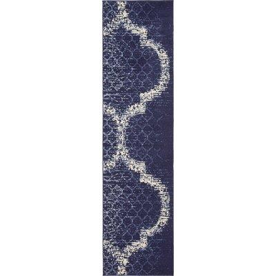 Steinbeck Navy Blue Area Rug Rug Size: Runner 27 x 10