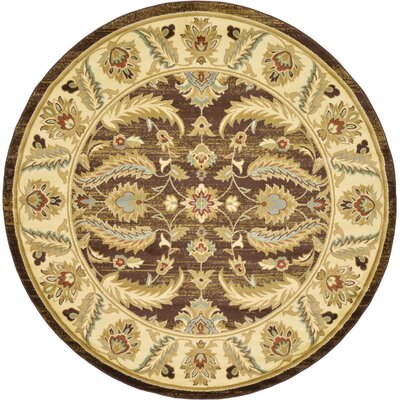Fairmount Oriental Brown Area Rug Rug Size: Round 8