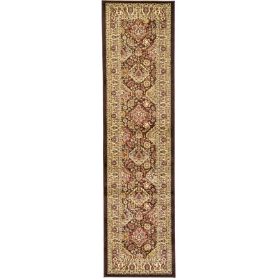 Fairmount Traditional Brown Area Rug Rug Size: Runner 27 x 10