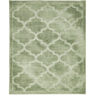 Moore Green Area Rug Rug Size: Rectangle 8 x 10