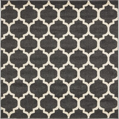 Moore Black Area Rug Rug Size: Square 6