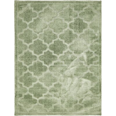 Fullmer Green Area Rug Rug Size: 9 x 12