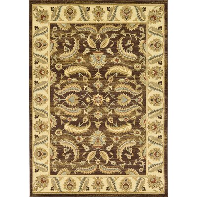 Fairmount Oriental Brown Area Rug Rug Size: Rectangle 7 x 10