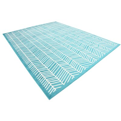 Maryrose Turquoise Area Rug Rug Size: Rectangle 8 x 10