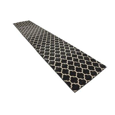 Moore Black Area Rug Rug Size: Runner 27 x 13