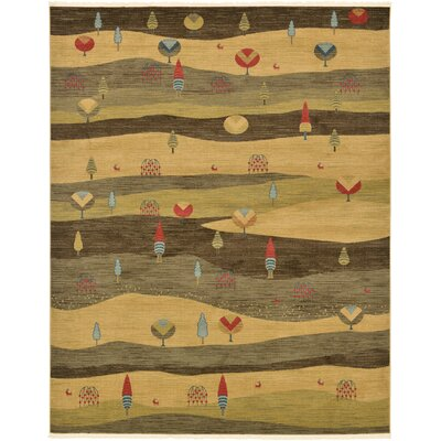 Jan Tan Abstract Area Rug Rug Size: Rectangle 10 x 8