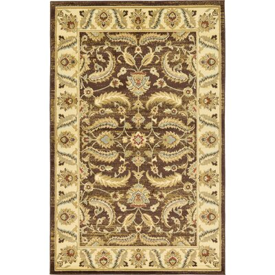 Niles Oriental Brown Area Rug Rug Size: Rectangle 5' x 8'