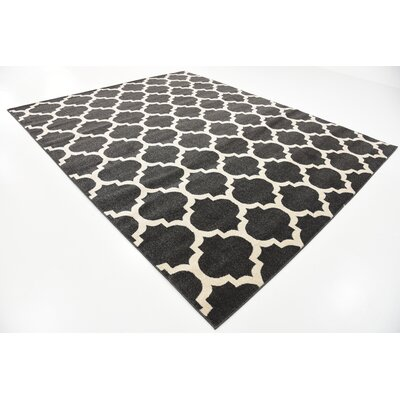 Emjay Black Area Rug Rug Size: Rectangle 8 x 10