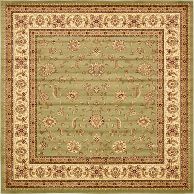 Niles Light Green Area Rug Rug Size: Square 4