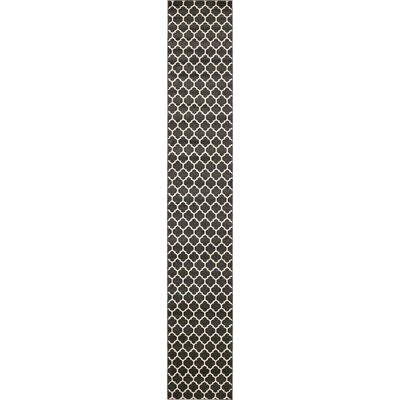 Moore Black Area Rug Rug Size: Runner 27 x 165