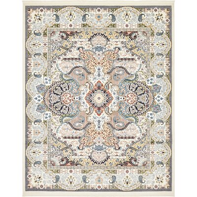 Amrane Ivory/Tan Area Rug Rug Size: Rectangle 8 x 10