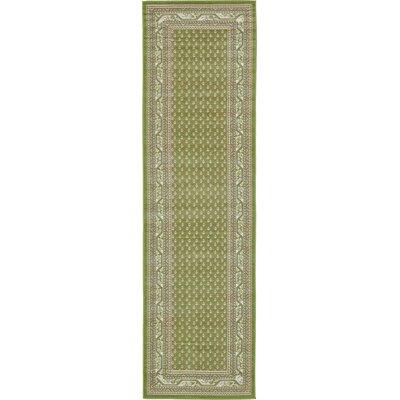 Gillam Geometric Green Area Rug Rug Size: Runner 29 x 91