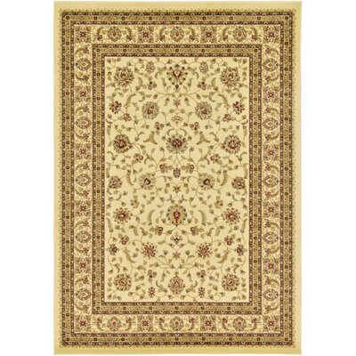Niles Cream/Brown Area Rug Rug Size: 7 x 10