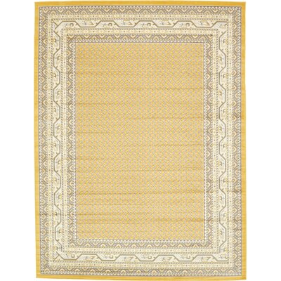 Toni Yellow Area Rug Rug Size: Rectangle 9 x 12