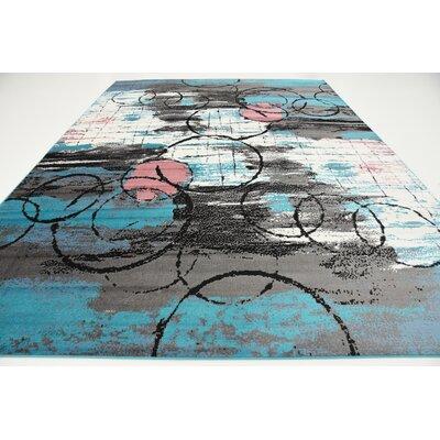 Sidney Turquoise Area Rug Rug Size: 4 x 6