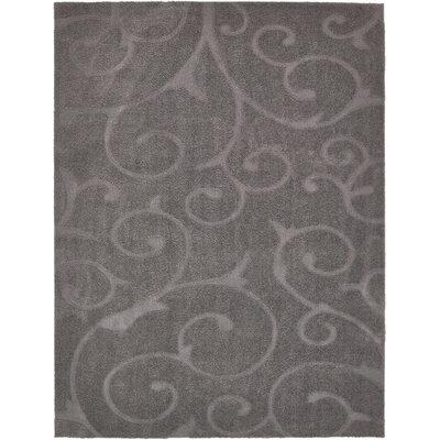 Scheffer Floral Dark Gray Area Rug Rug Size: Rectangle 9 x 12