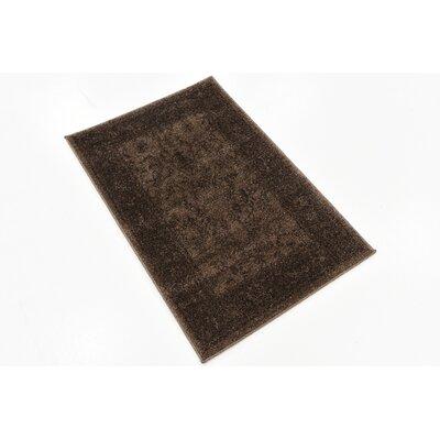 Attleborough Brown Area Rug Rug Size: Rectangle 22 x 31.5