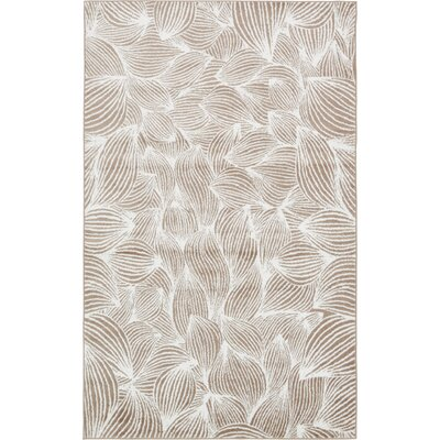 Sidney Beige Area Rug Rug Size: Rectangle 5 x 8