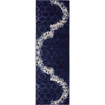Steinbeck Navy Blue Area Rug Rug Size: Runner 2 x 6
