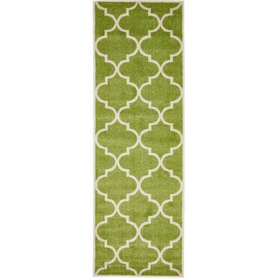 Moore Green Area Rug Rug Size: Rectangle 27 x 8