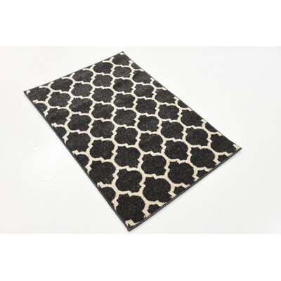 Moore Black Area Rug Rug Size: Rectangle 22 x 3