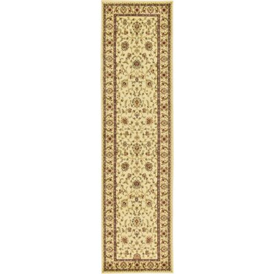 Fairmount Cream Area Rug Rug Size: Runner 27 x 10