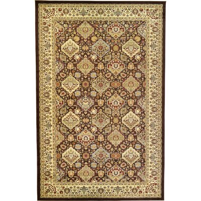 Fairmount Traditional Brown Area Rug Rug Size: Rectangle 106 x 165