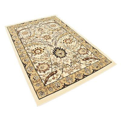 Antoinette Ivory Area Rug Rug Size: Rectangle 4 x 6