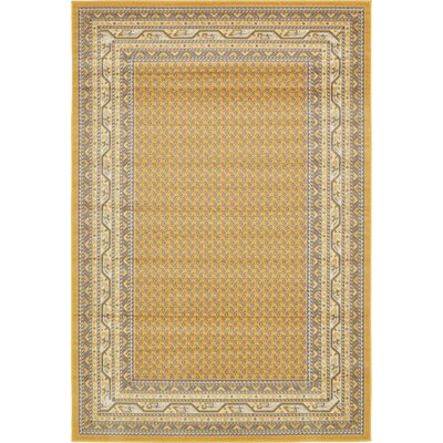 Toni Yellow Area Rug Rug Size: Rectangle 6 x 9